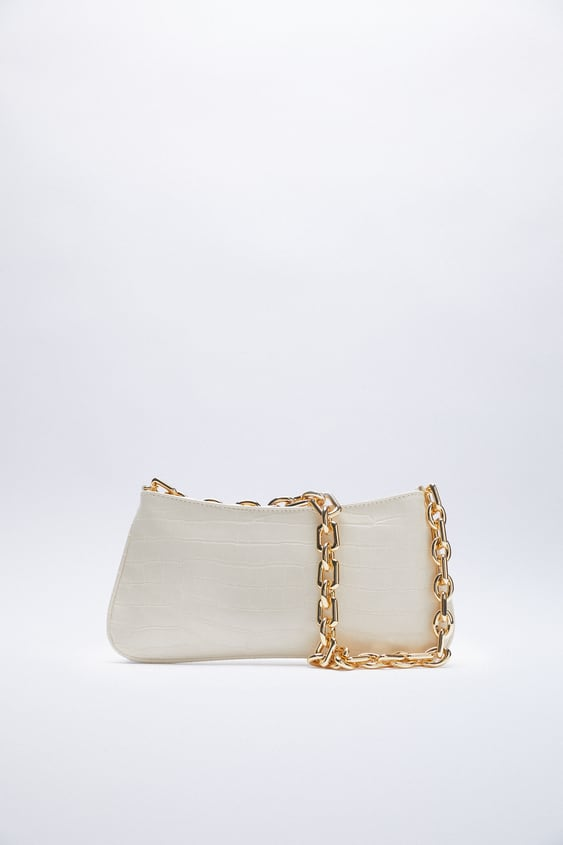 Image 0 of ANIMAL PRINT SHOULDER BAG WITH CHAIN from Zara