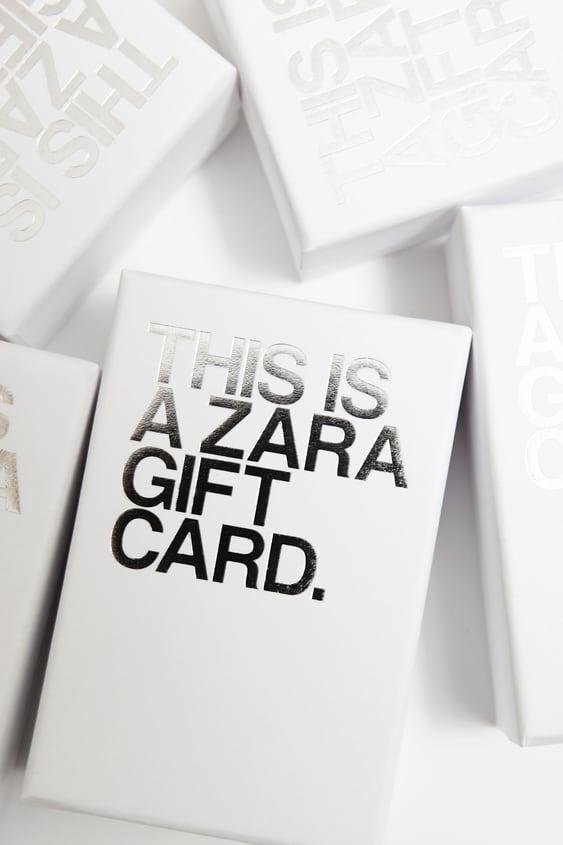 Carte Cadeau Zara France