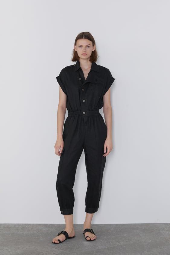 guapo Tienda online estilo distintivo MONO LINO BOTONES - Monos largos-MONOS-MUJER   ZARA España