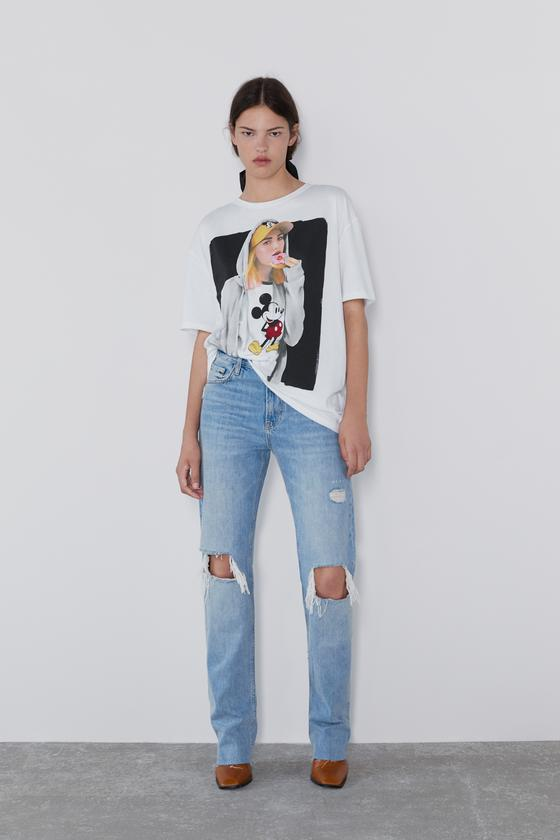zara abrigo denim mickey mouse