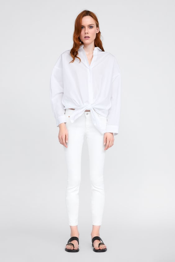 f87d1ab5 ZW PREMIUM WHITE COATED SKINNY JEANS - Skinny-JEANS-WOMAN-SALE ...