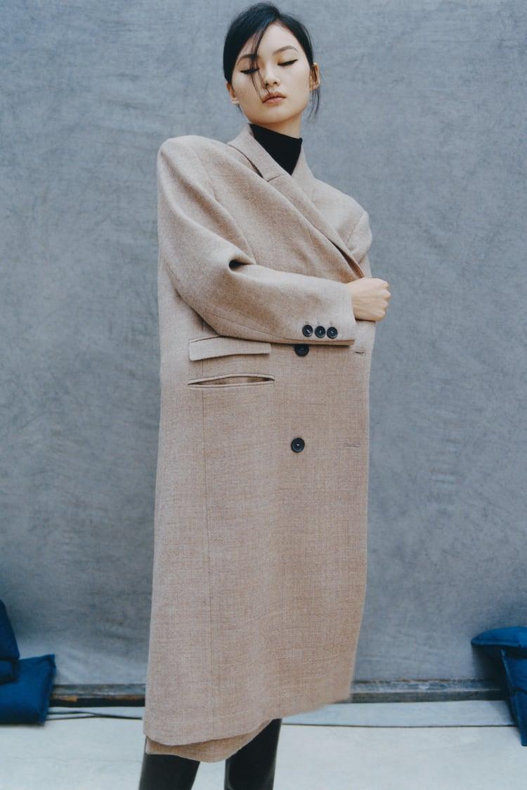 MASCULINE WOOL COAT