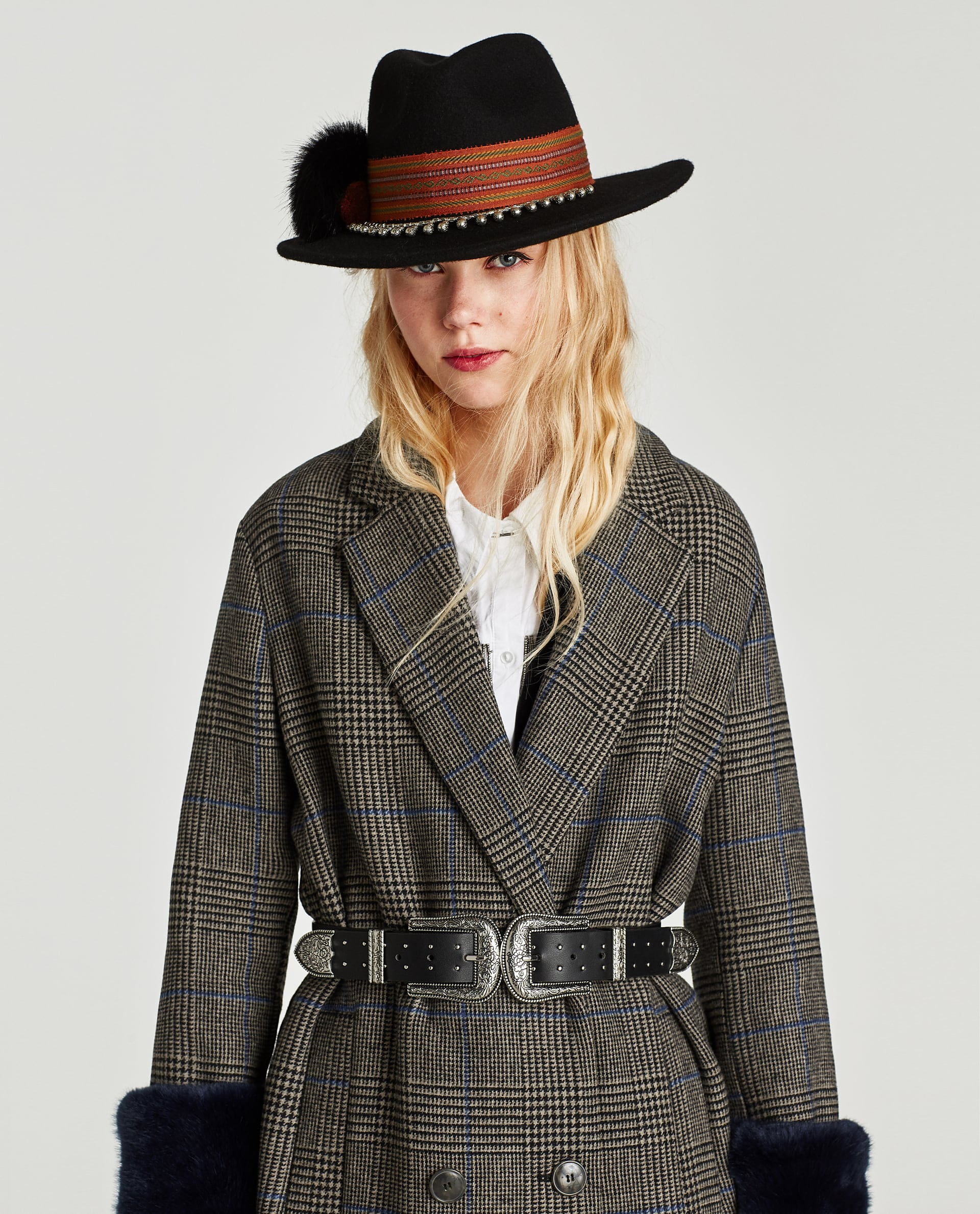 c3b6df16 Zara CHECKED COAT WITH TEXTURED CUFFS at £89.99 | love the brands