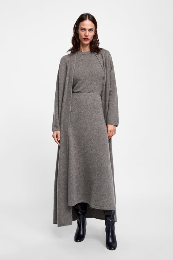 Limited Edition Cashmere Skirt  Midi Skirts Woman by Zara