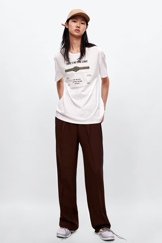 Jeweled Text T  Shirt View All T Shirts Woman by Zara