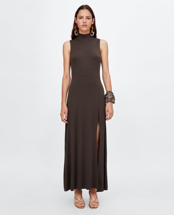 flowy-high-neck-dress--new-inwoman by zara
