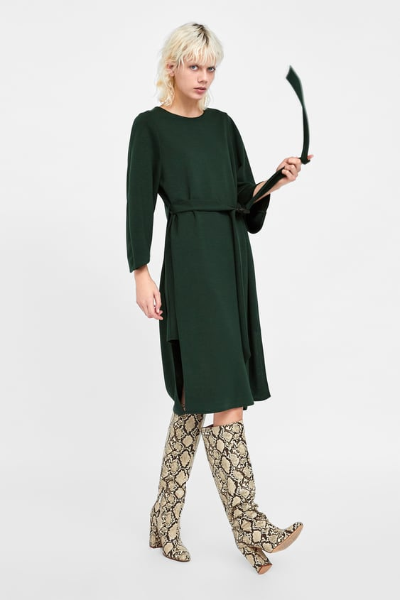 Belted Dress With Loops  View All Dresses Woman by Zara