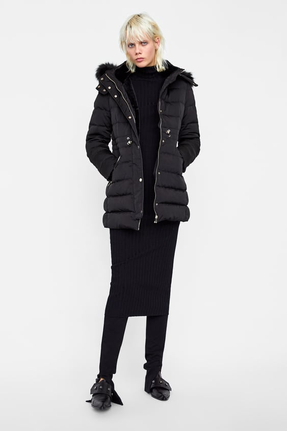 Water Resistant Down Parka  Puffers Jackets Woman by Zara