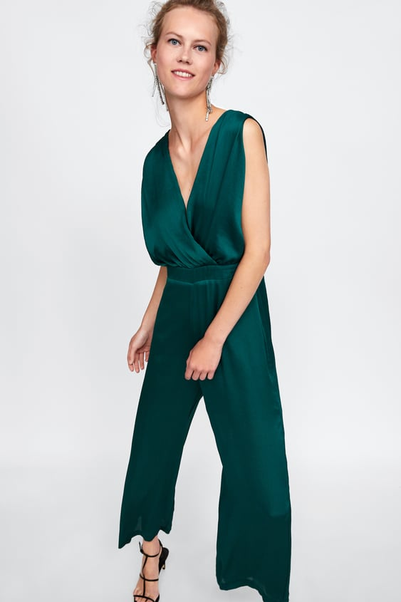 Zara MIXED LACE JUMPSUIT