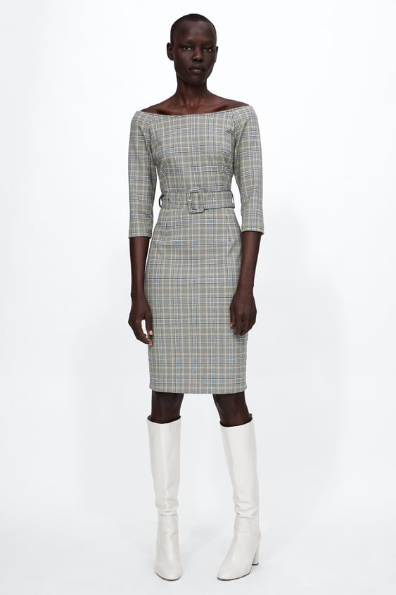 Checked Dress With Belt  View All Dresses Woman by Zara