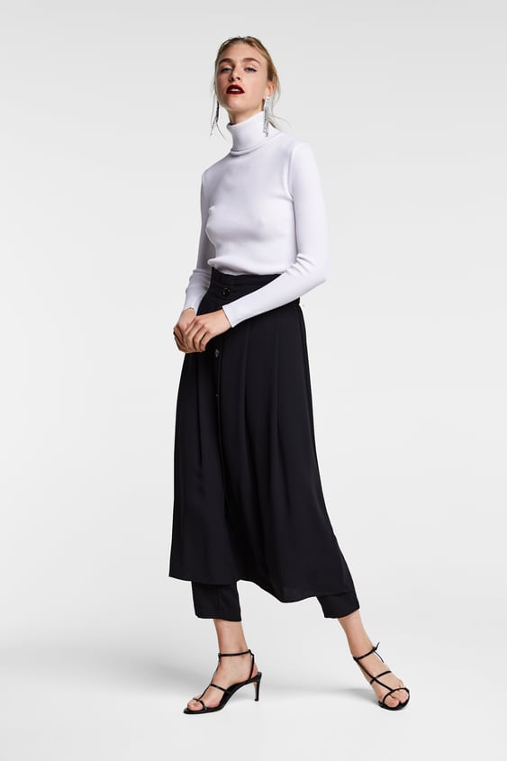 Buttoned Skort  View All Trousers Woman by Zara