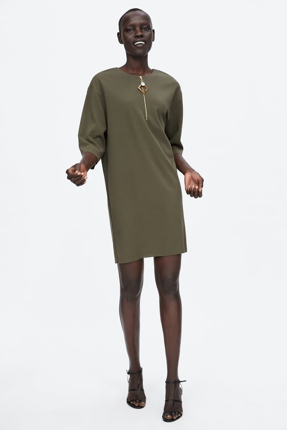Zip Dress With Ornament Detail  View All Dresses Woman by Zara