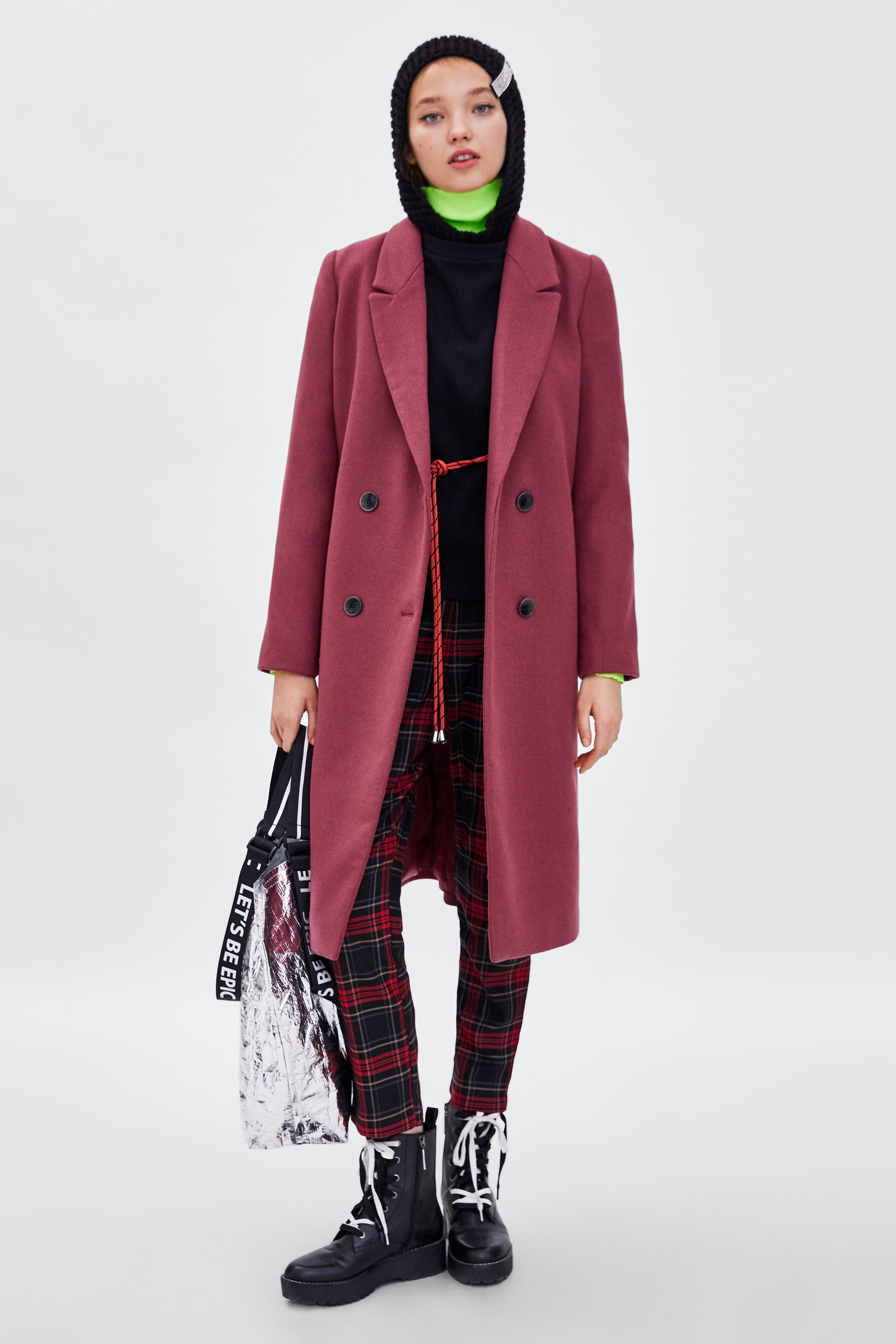 Long Coat  View All Outerwear Trf by Zara