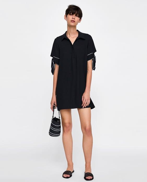 contrasting-dress--minidresses-woman by zara