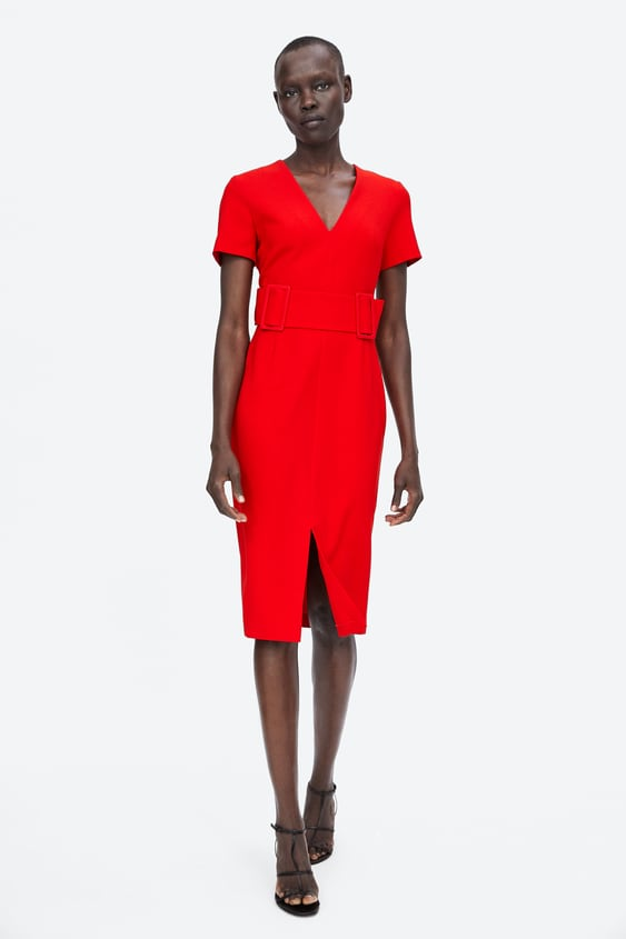 Belted Sheath Dress  View All Dresses Woman by Zara
