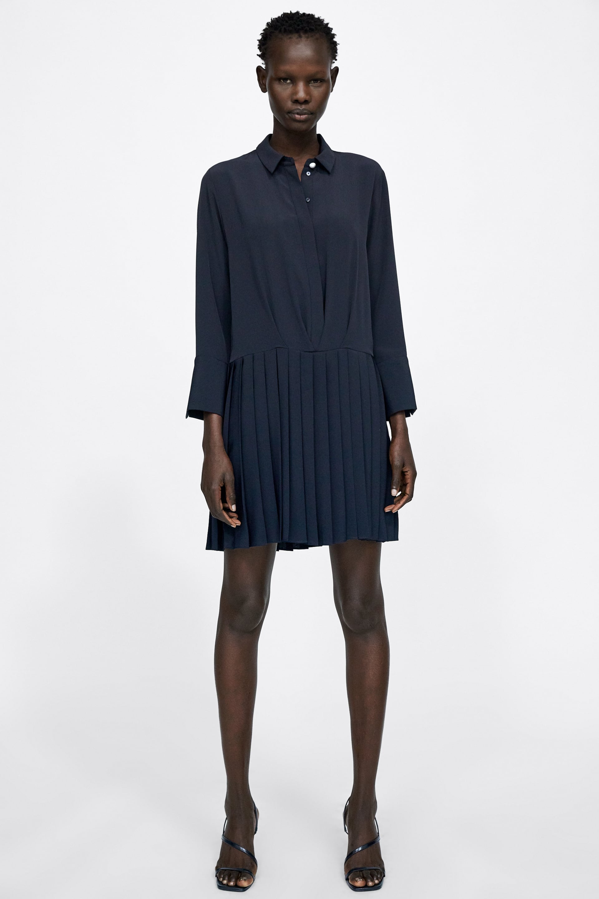 Dress With Pleated Skirt  View All Dresses Woman by Zara