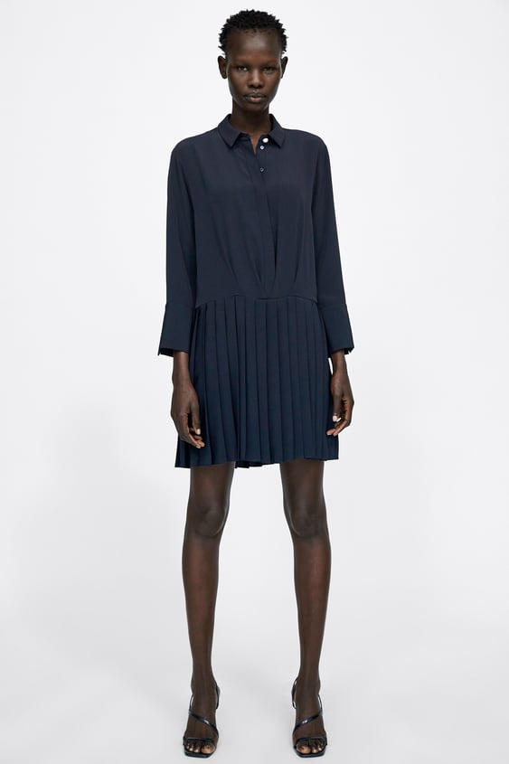Dress With Pleated Skirt  New Inwoman by Zara