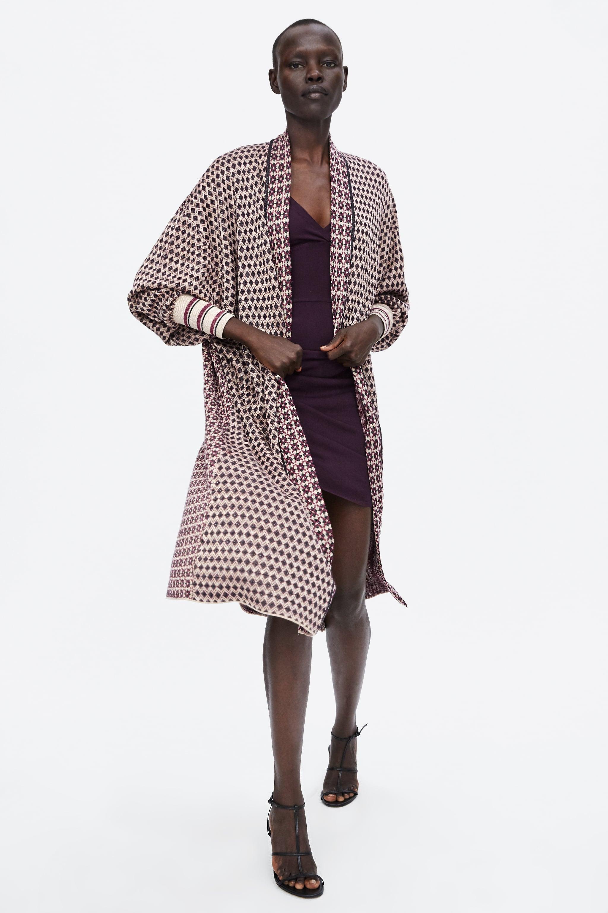 Zara SPECIAL EDITION JACQUARD COAT