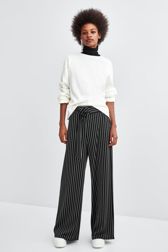 Belted Striped Pants  View All Pants Woman by Zara