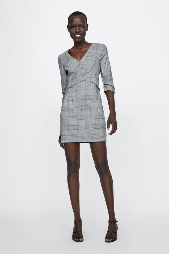 Check Dress With Pleats  New Inwoman by Zara