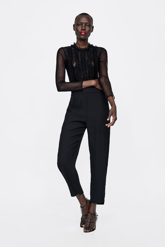 Contrasting Dotted Mesh Jumpsuit  Jumpsuitswoman by Zara