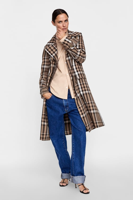 Plaid Double  Breasted Trench Coat View All Coats Woman by Zara