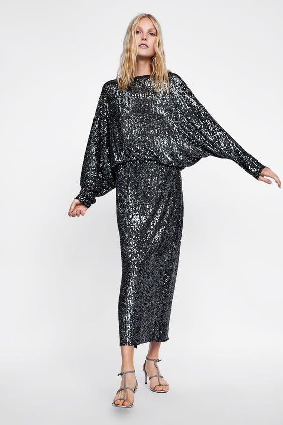 Vestido De Lantejoulas Com Costas Descobertas  Ver Tudo Vestidos Mulher by Zara