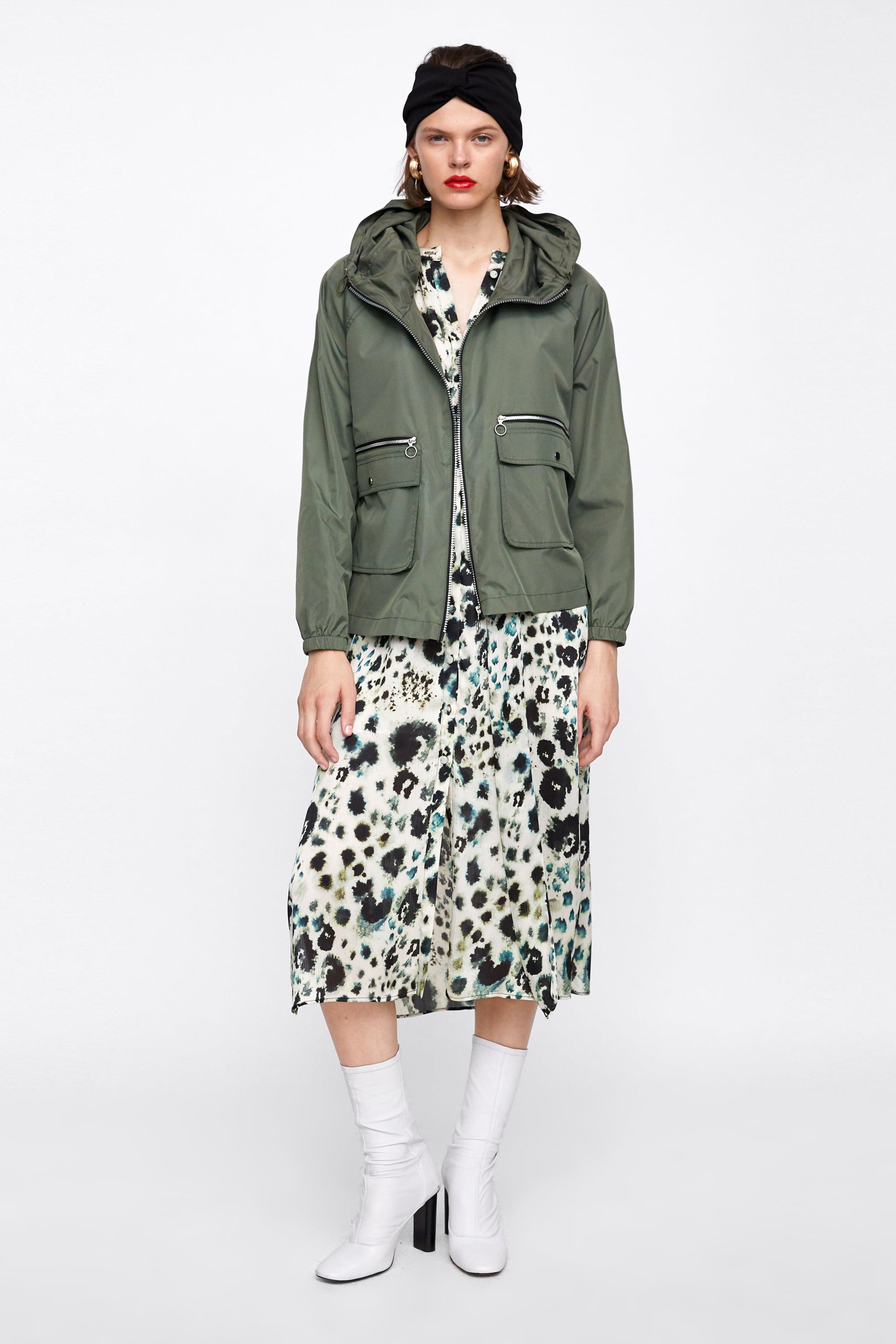 Ghirardelli Heels Bay Beige 36 Zara Zippered Raincoat