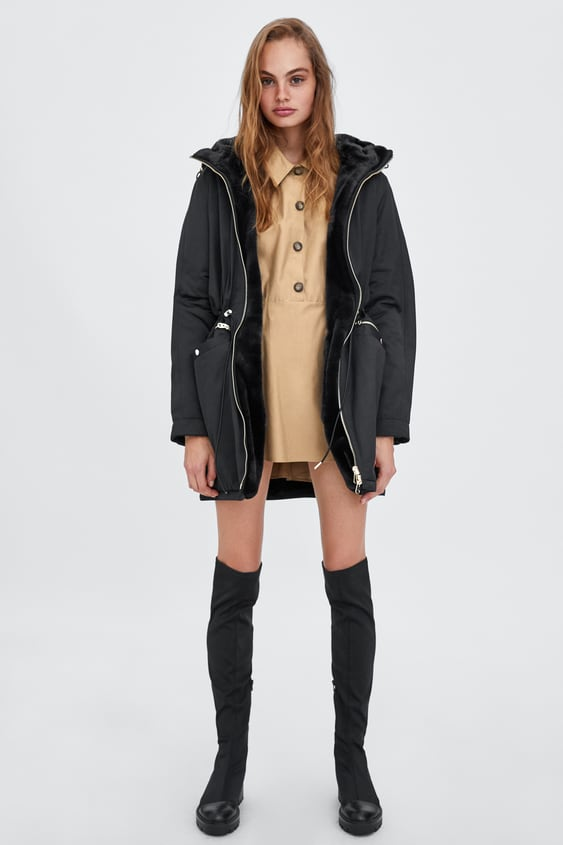 Reversible Water  Resistant Parka View All Outerwear Trf by Zara