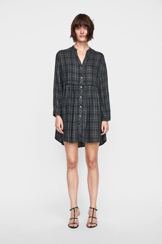 Plaid Dress With Metallic Thread  Special Priceswoman by Zara