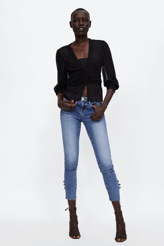 Draped Top  View All Tops Woman by Zara