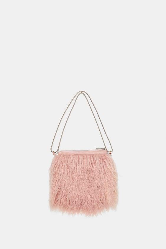 Faux Fur Bag  Dress Timewoman Corner Shops by Zara