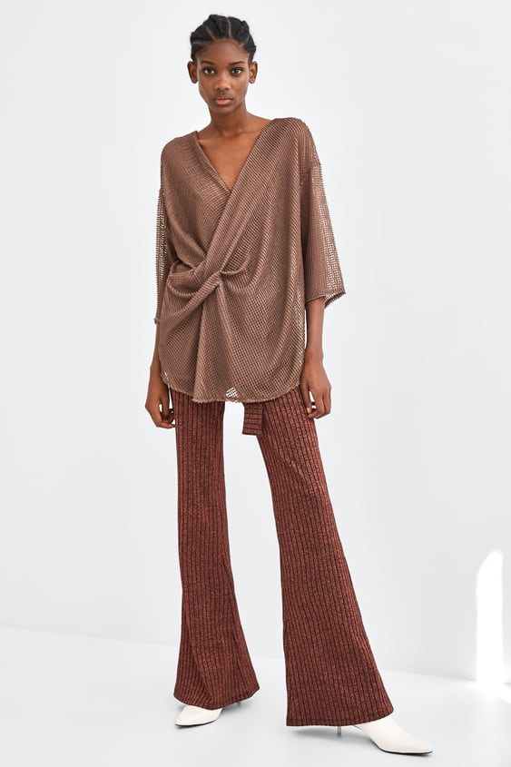 Mesh Pleated Top  New Intrf by Zara