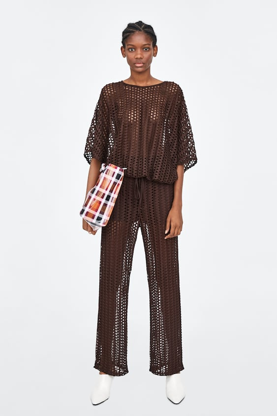 Top With Mesh Detail  Coord Sets Trf by Zara