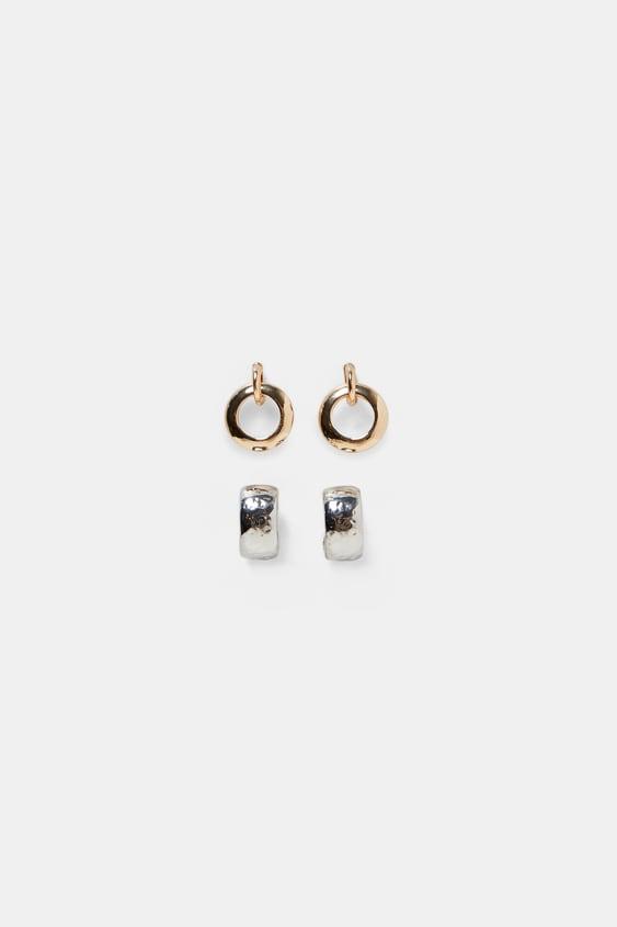 Pack Of 2 Hoop Earrings  View All Accessories Woman by Zara