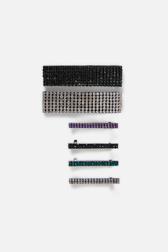 Pack Of Sparkly Barrettes  New Intrf by Zara