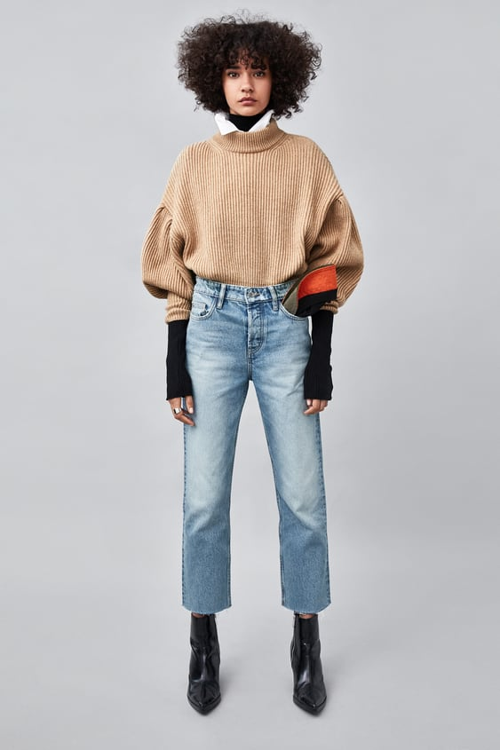 Jeans Direitos Hi  Rise Authentic Regular Fit Fits Jeans Trf by Zara