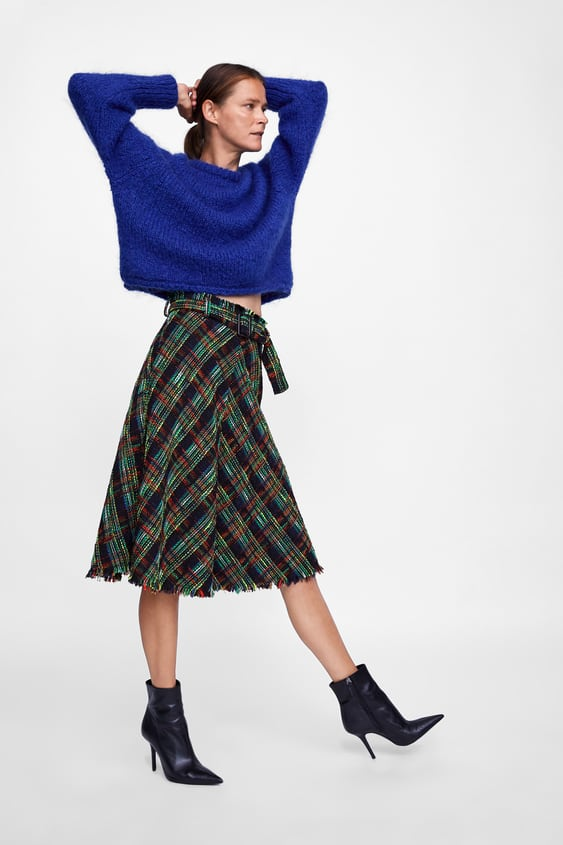 Tweed Midi Skirt  View All Skirts Woman by Zara