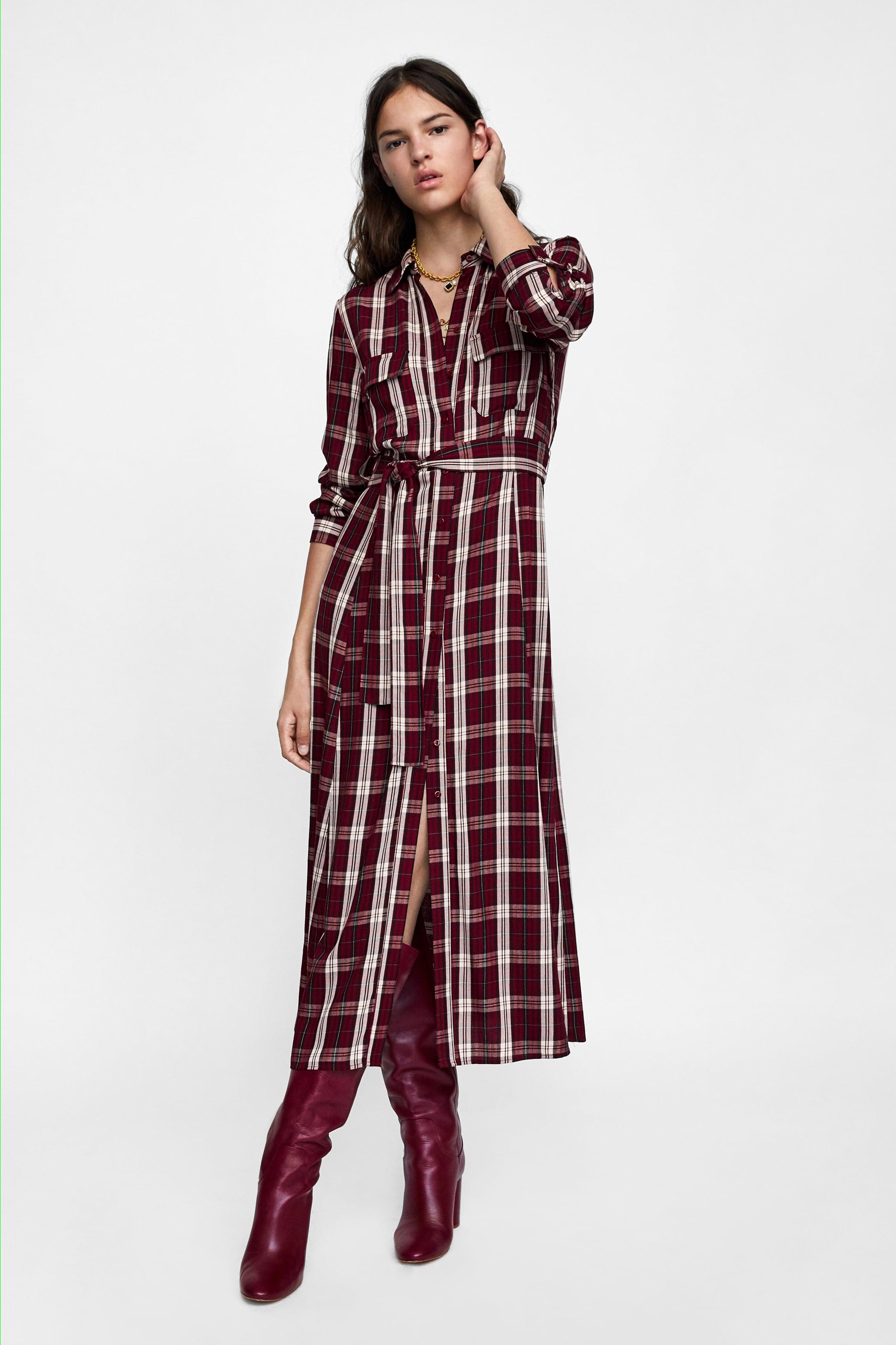 Tony Perotti Sandals Barclay Brown Cokelat Tua 41 Zara Long Checkered Dress