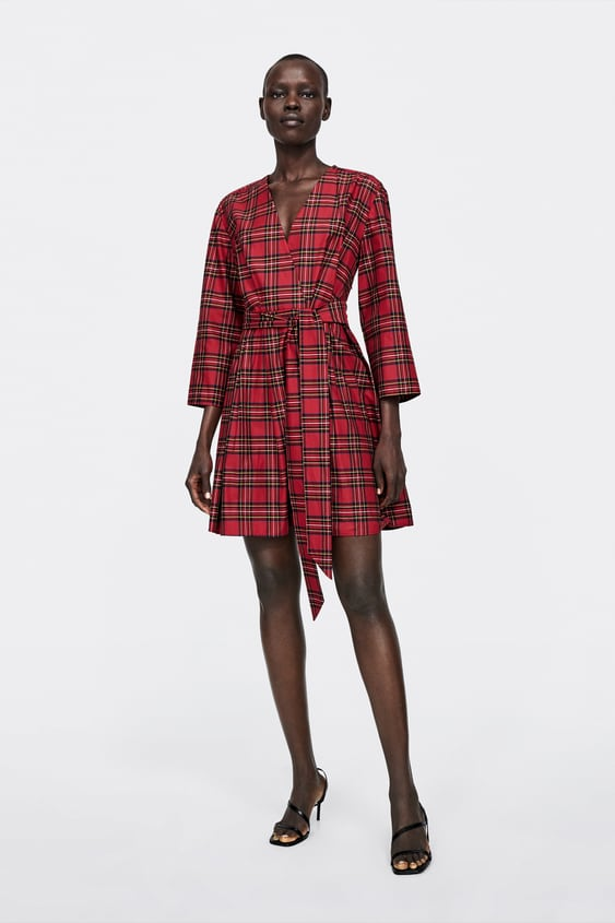 Check Dress With Bow  Promotion 40 Percents Woman by Zara