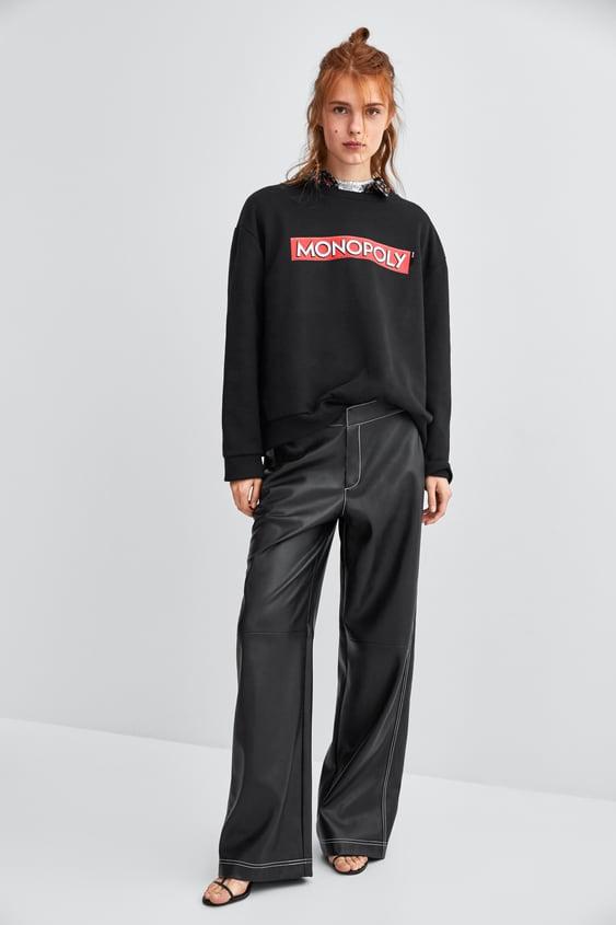 Oversized Official Monopoly® Sweatshirt  Última Semanatrf by Zara