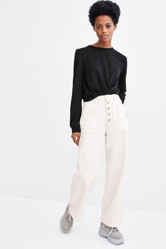 Gathered Top  Sweatshirtswoman by Zara