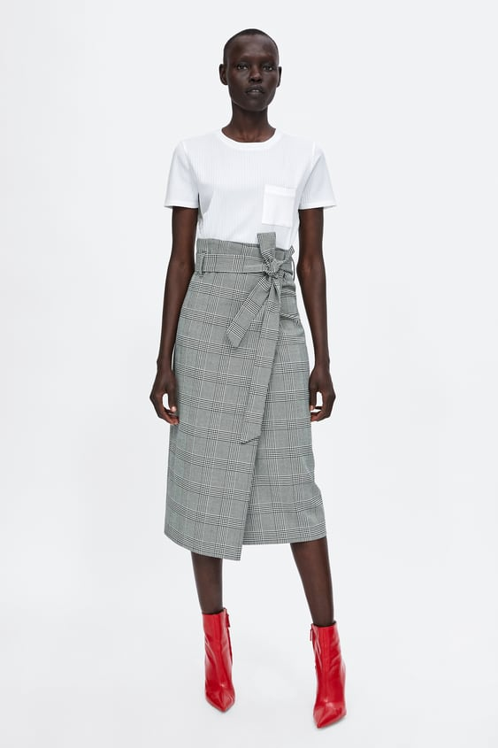 Ribbed T  Shirt With Pocket Short Sleeve T Shirts Woman by Zara