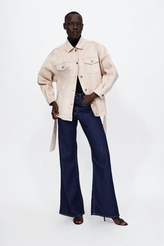Faux Suede Jacket With Belt  New Inwoman by Zara