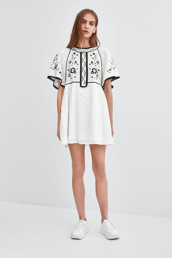 Kleid Mit Stickerei  Kleiderdamen by Zara