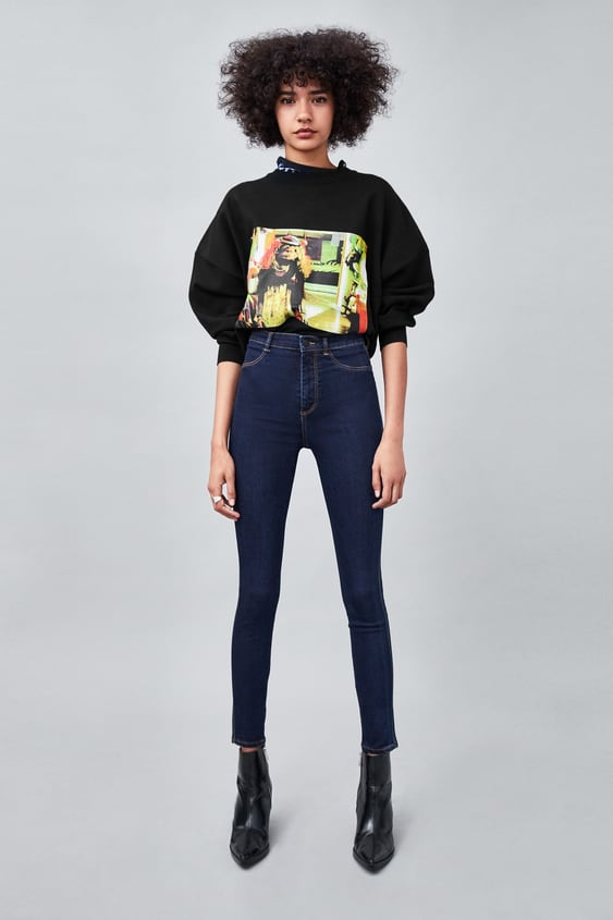 Hi  Rise Super Elastic Jeggings View All Jeans Trf by Zara