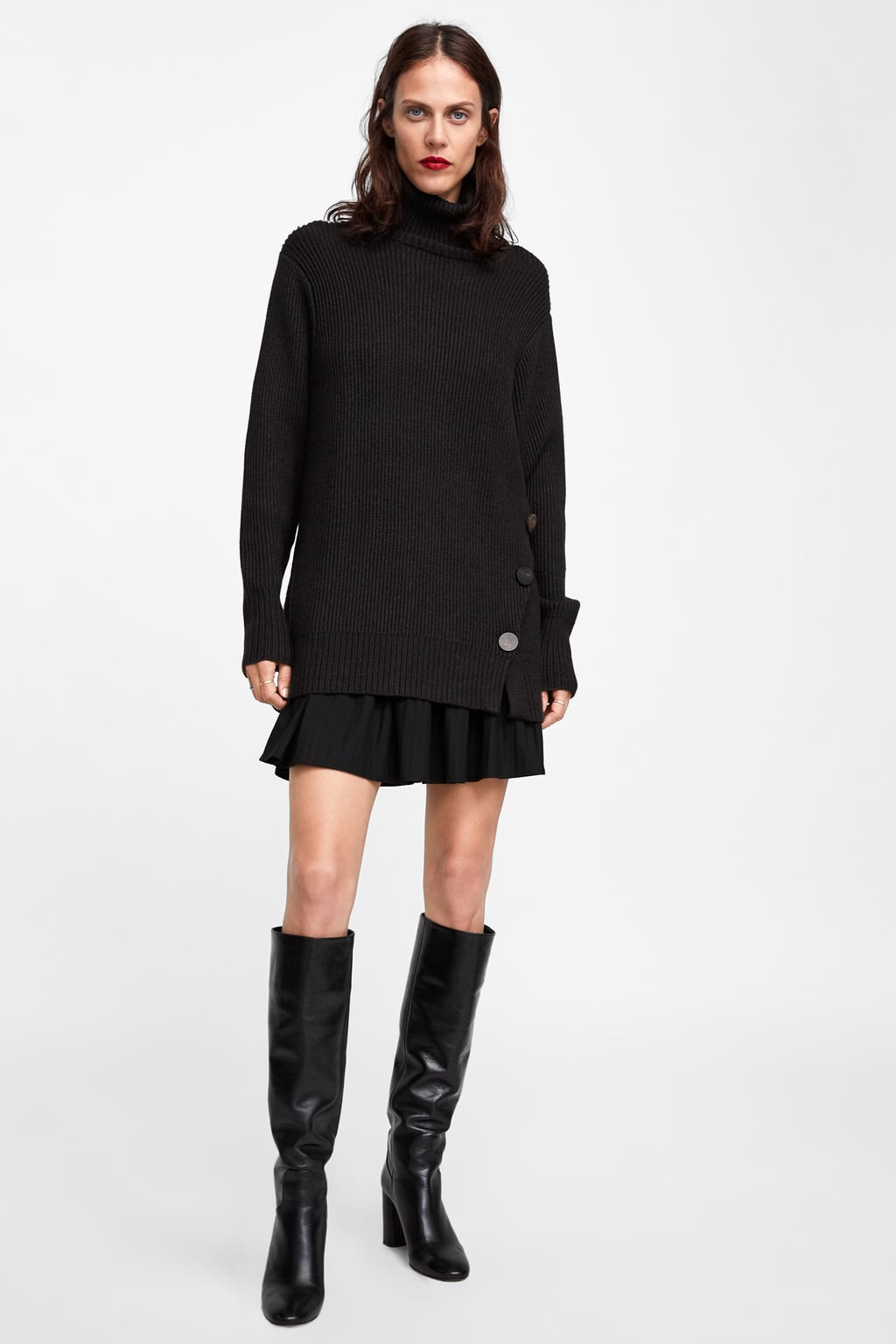 Oversized Buttoned Sweater  Sweaters Knitwear Woman by Zara