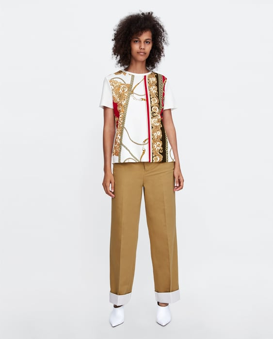 T  Shirt With Rubberized AppliquÉview All T Shirts Woman Aw/18 by Zara