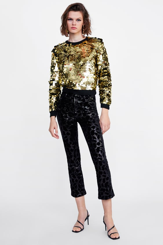 Sequinned Trousers  New Inwoman by Zara