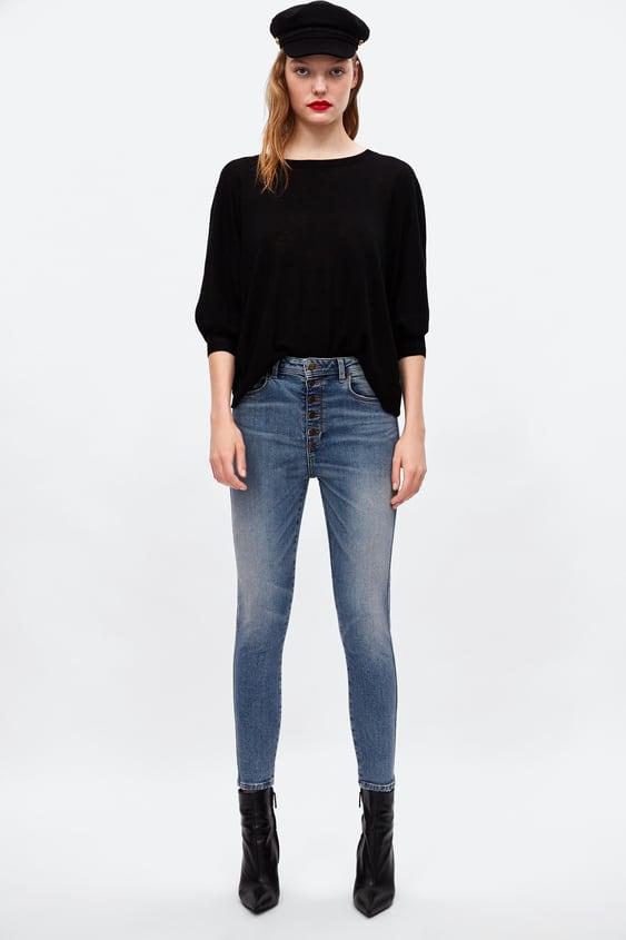 Buttoned Jeans Z1975  Premium Concepts Jeans Woman by Zara